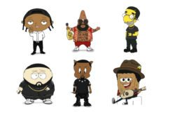 Popular rappers as cartoon characters