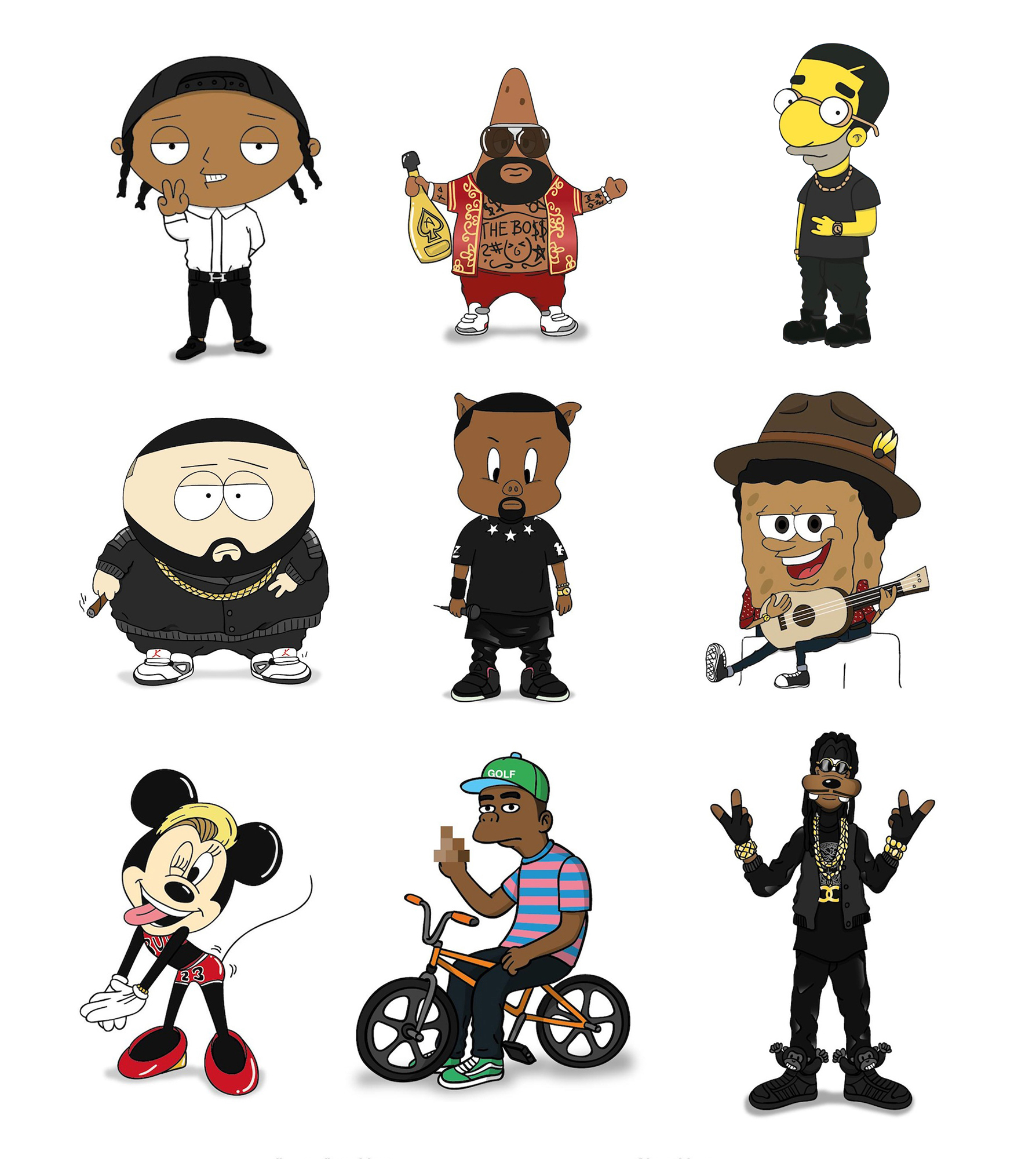 Cartoon Characters As Rappers : Cartoonrappers