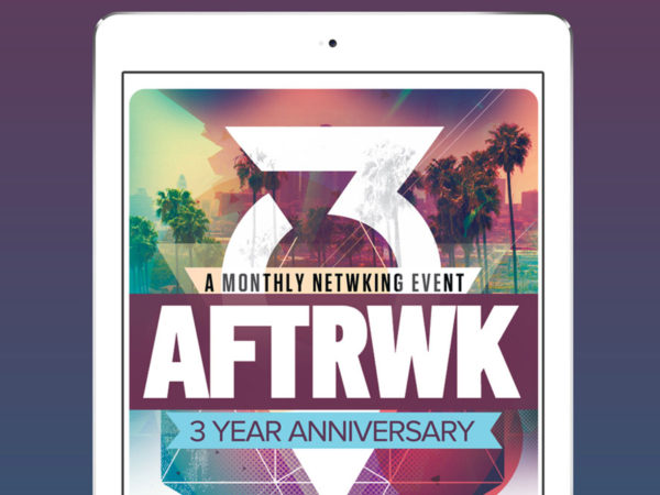 aftrwk flyer design cover