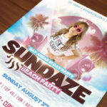 sundaze sf flyer design thumb