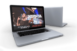 DJ J Espinosa website design laptop