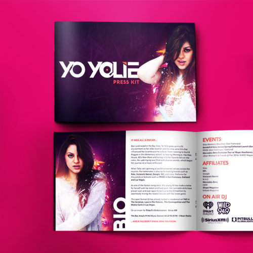 Logo and Press Kit Design for DJ Yo Yolie
