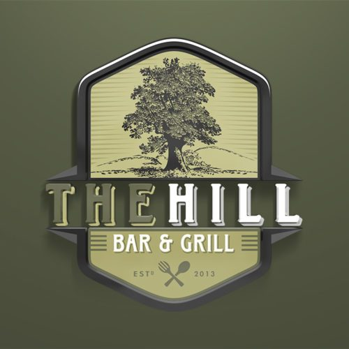 Logo Design for The Hill Bar & Grill
