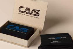 cavs sf logo design business cards