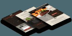 flipside steakhouse website design