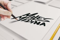 miles medina logo design sketch