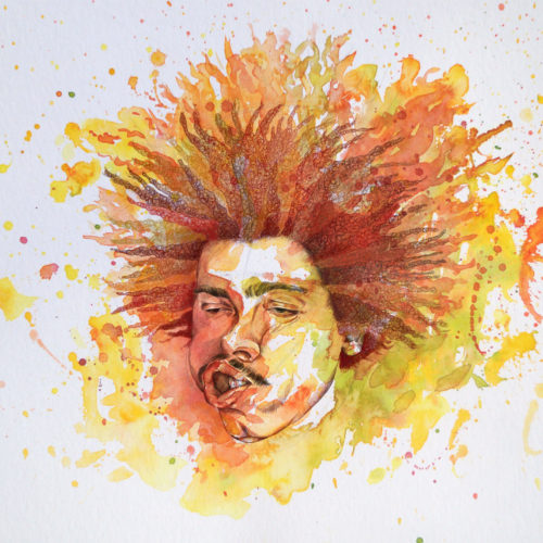 Illustrations of Your Favourite Techno DJs | Seth Troxler by Sarah Kilcoyne