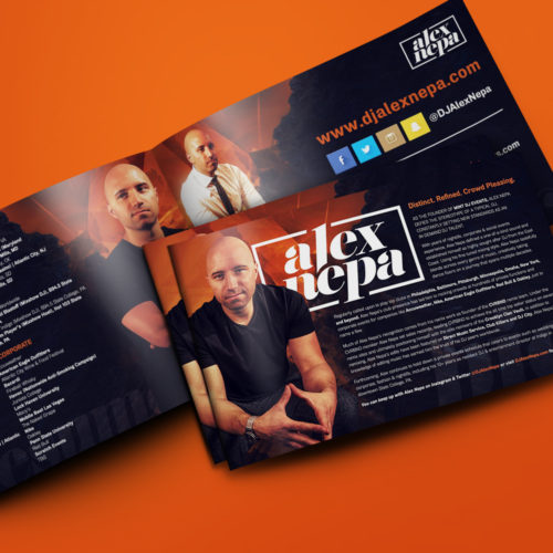Press Kit Design for DJ Alex Nepa