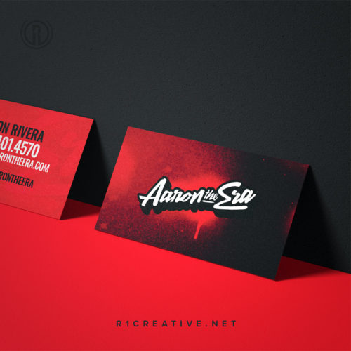 Business Card Design for Aaron the Era by R. One Creative