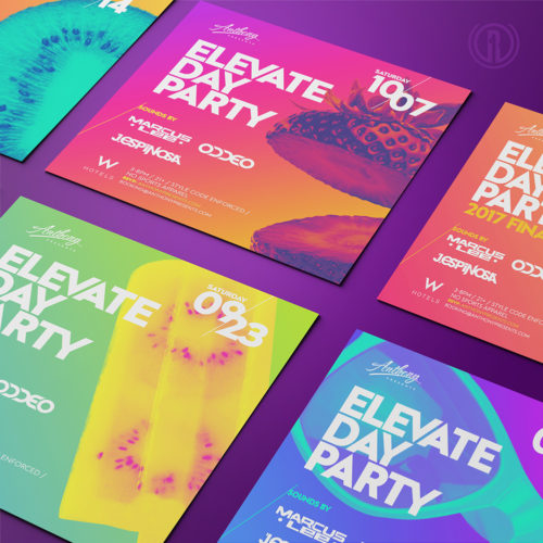 Flyer Design for Elevate Day Party at the W San Fransisco