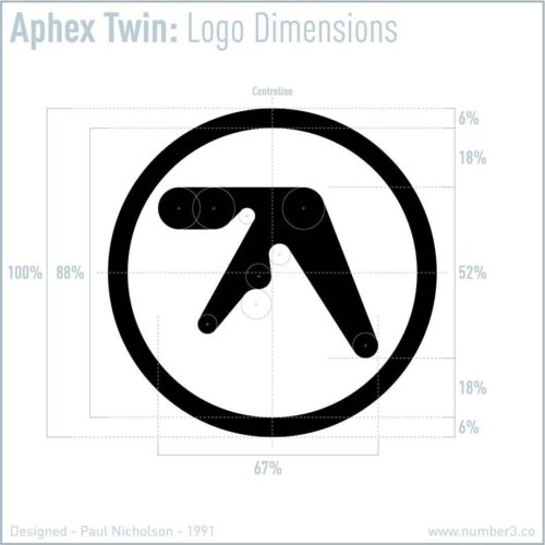 Paul Nicholson logo design for Aphex Twin