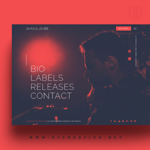 Website Design for DJ Daniel Dubb by R. One Creative